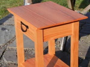 cherry side table tansu pull