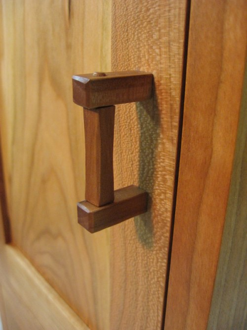 carved door pull