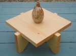 low pine tea table