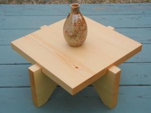low pine tea table