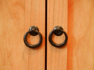 small iron tansu door pulls