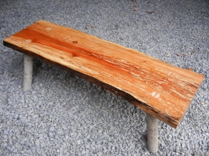 apple wood bench