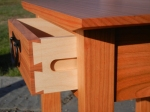 side hung dovetailed drawer