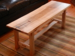 Red maple coffee table with butterfly keys