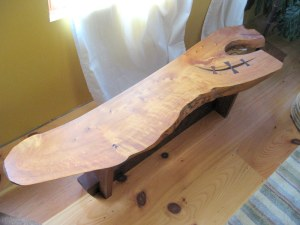 port orford cedar coffee table