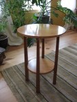 cherry plant stand round top