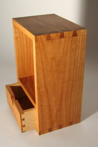 dovetailed cherry cabinet