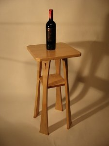 stickley maple drink stand