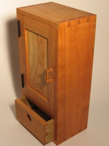 cherry dovetailed wall cabinet