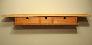 wall shelf with drawers