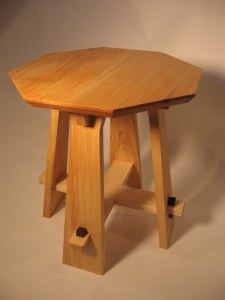 maple octagonal tabouret plant stand