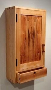 yellow birch wall cabinet