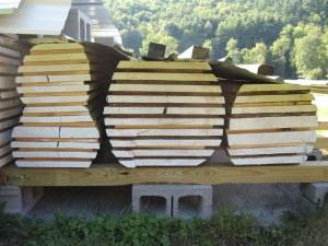 milled lumber pile
